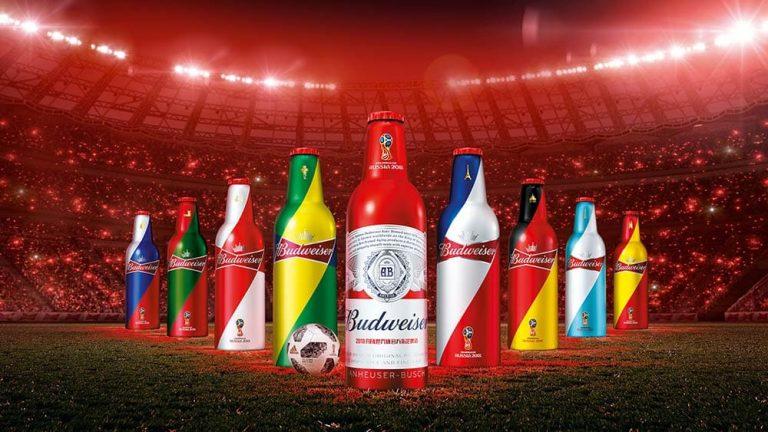 Mẫu thiết kế vỏ chai bia Budweiser mùa World Cup